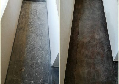 Почистване на тераса преди и след