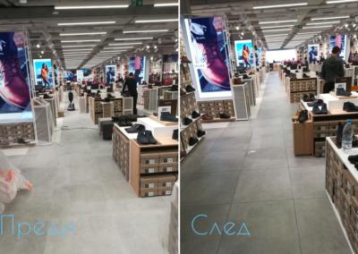 Почистване на магазин преди и след