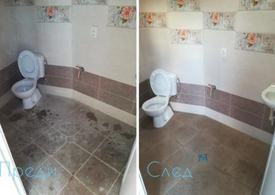 Почистване на тоалетна преди и след