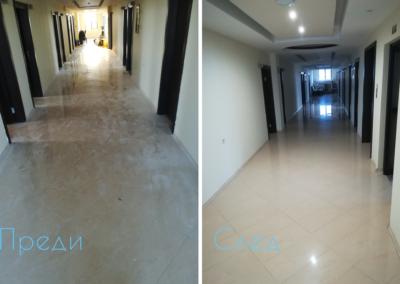 СПС почистване на под преди и след